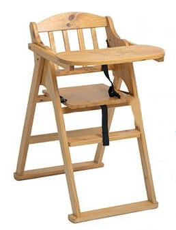 Silla bebe plegable trona madera for Silla de bebe de madera
